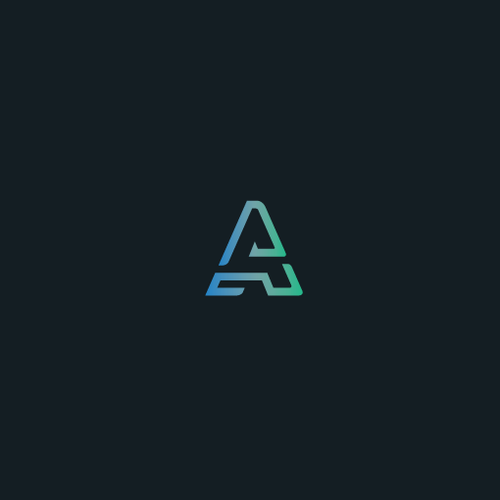 3D letter logo with the title 'A letter logo'