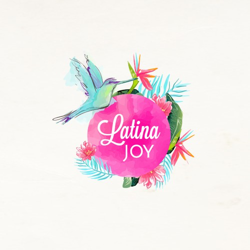 Hummingbird design with the title 'Latina Joy'