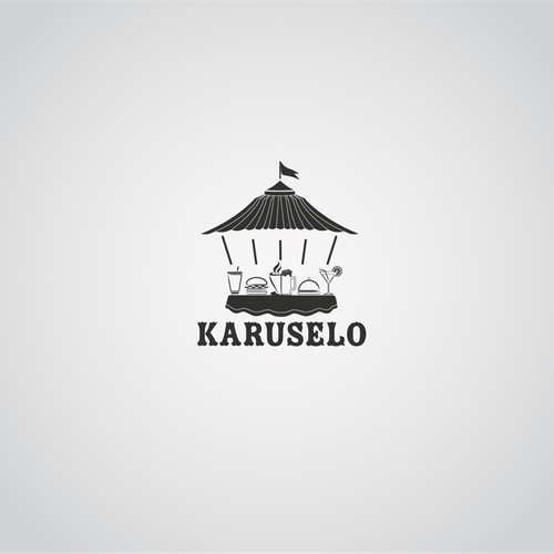 Wine bar logo with the title 'Create the next logo for Karuselo'