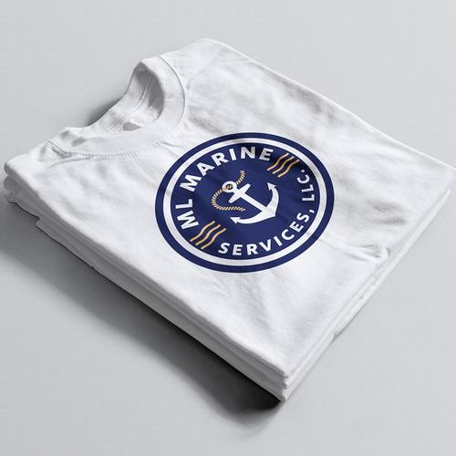 Marine design with the title 'Marine Surveying Company - Logo design'