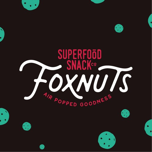 Energetic design with the title 'A young and energetic logo for a superfood snack company'