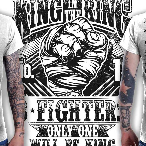 MMA t-shirt with the title 'Create a t-shirt for the King in the Ring 8 Man Elimination Fight Event'
