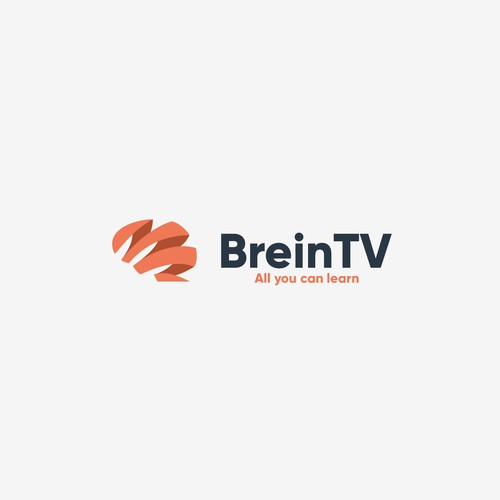Mental health design with the title 'Brein TV'