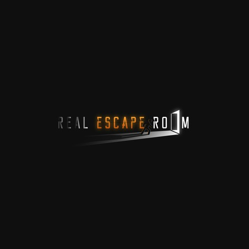 Escape logo with the title 'Room game logo'