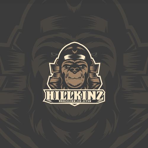 Jiu-jitsu logo with the title 'HILLKINZ Brazilian jiu-jitsu'