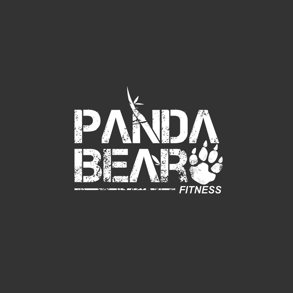 Footprint logo with the title 'Bold logo concept for Panda Bear Fitnes'