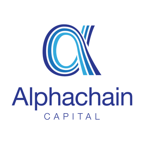 Chain design with the title 'Logo Design for Alphachain Capital'