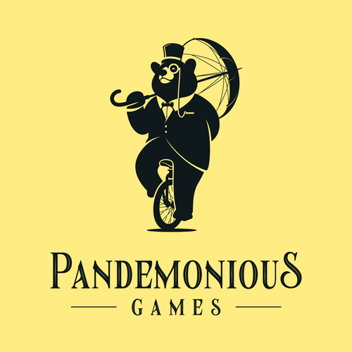 Gentleman logo with the title 'Sophisticated Gentleman Bear for Pandemonious Games Logo'