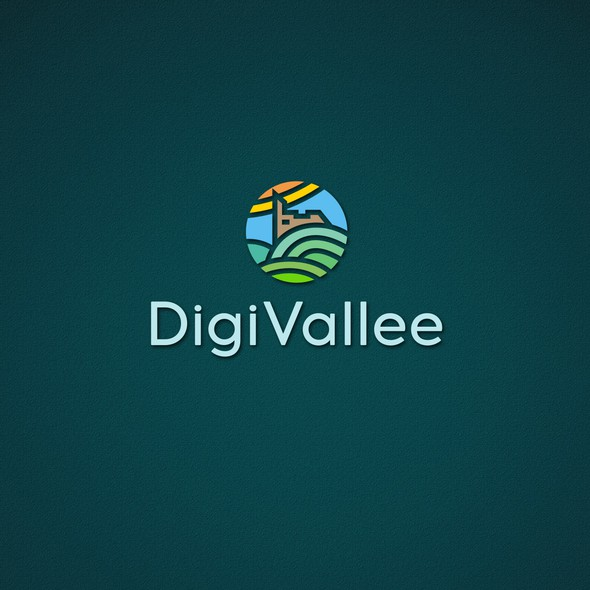 LAN design with the title 'Logo Agence Communication Digitale «DigiVallee»'
