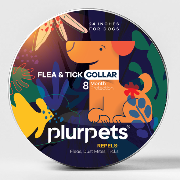 Flower label with the title 'Flea Collar package'