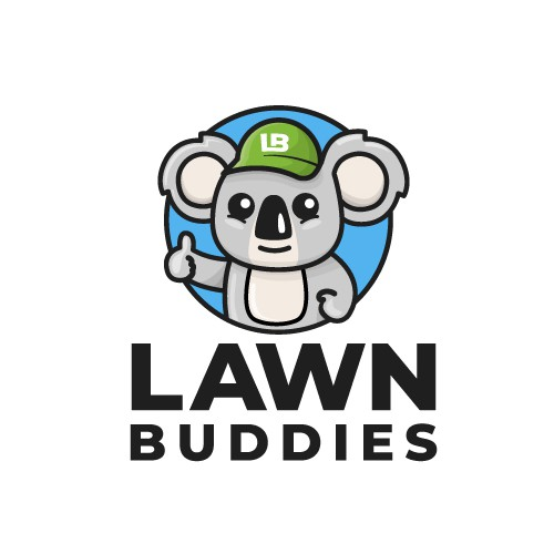 Lawn design with the title 'Mascot logo for a Lawn Care Services'
