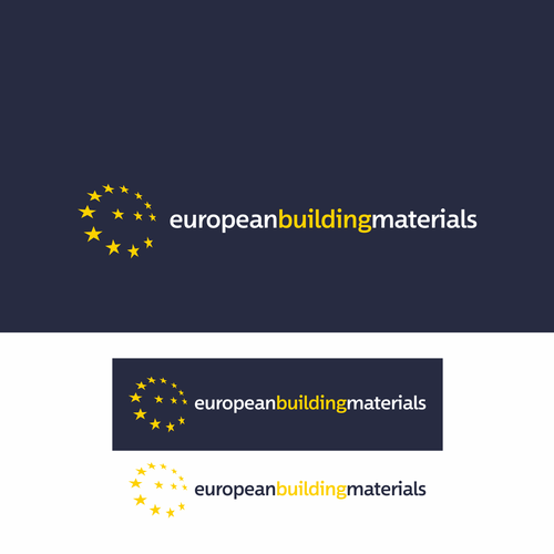 European design with the title 'Logo for A Building Material Website'