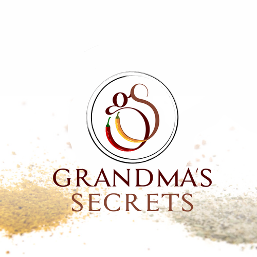 Secret logo with the title 'Grandma's Secrets Logo design'