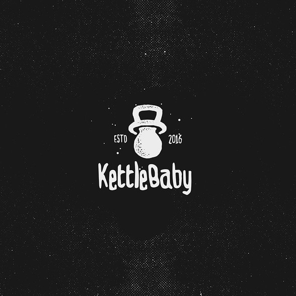 Kettlebell design with the title 'Kettle Baby'