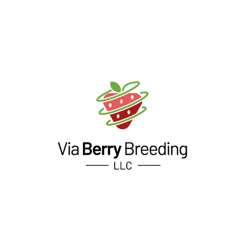 Strawberry design with the title 'Logo for strawberry breeding company'