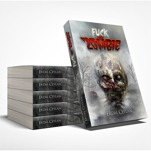 """Zombie book cover with the title 'book cover for """"Fuck you Zombie""""'"""