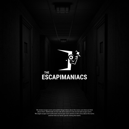 Room logo with the title 'Logo for Escape Room Enthusiast Website'