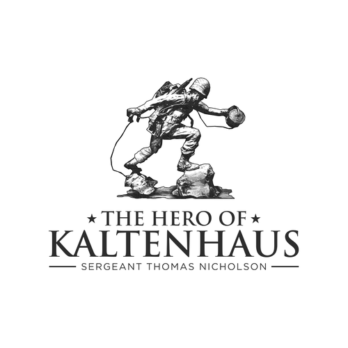 Military design with the title 'Logo design for The Hero of Kaltenhaus'
