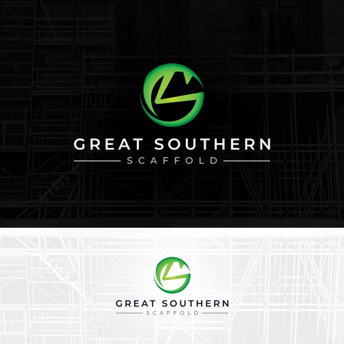Mantis design with the title 'GREAT SOUTHERN SCAFFOLD'