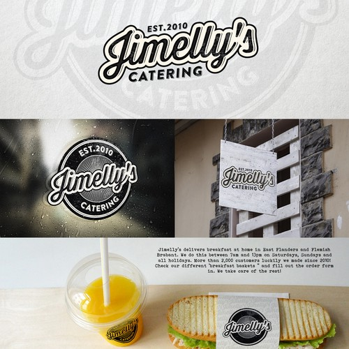 Service design with the title 'Logo for Jimelly's catering service'