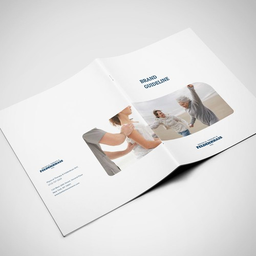 Style guide design with the title 'Brand guide for Health & Wellness'