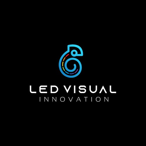 LED logo with the title 'Modern logo for a LED screen manufacturing company'