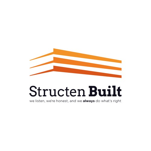 Orange and black logo with the title 'Structen Built'