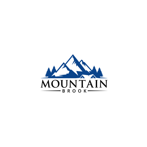 Fir tree logo with the title 'MOUNTAIN BROOK'