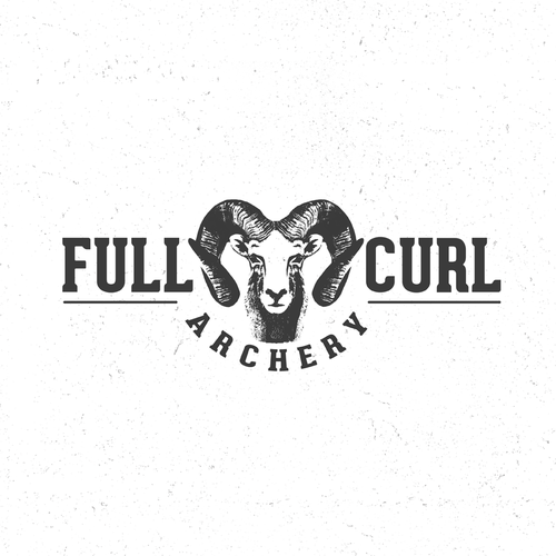 Sheep logo with the title 'Full Curl Archery'