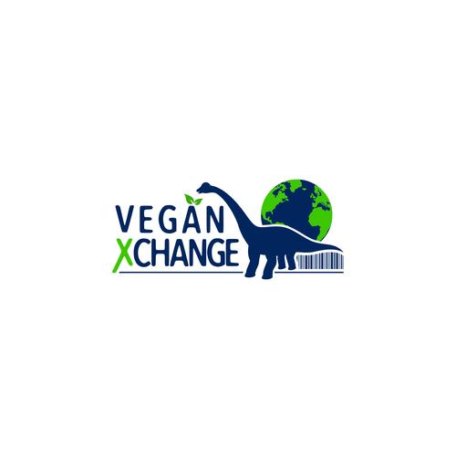 Barcode logo with the title 'Vegan Xchange logo'