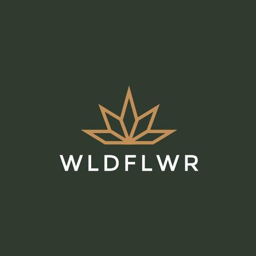 Marijuana logo with the title 'Clean Modern Design for Small Batch Marijuana Grower '