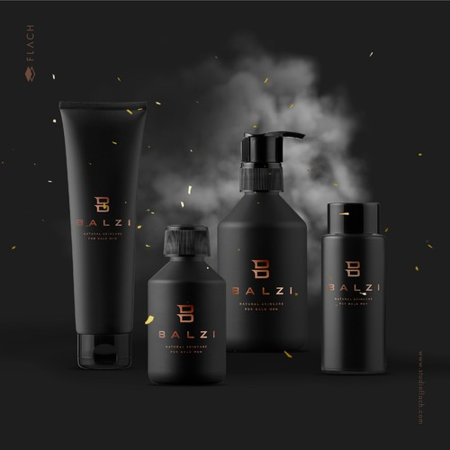 B design with the title 'Masculine and sophisticated logo for a men eco-friendly, natural skincare products line.'
