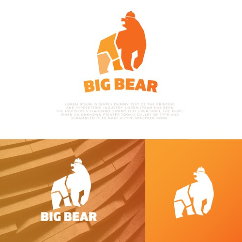 Roar design with the title 'Big Bear Logo Design'