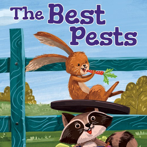 Children's book illustration with the title 'The Best Pest Cover'