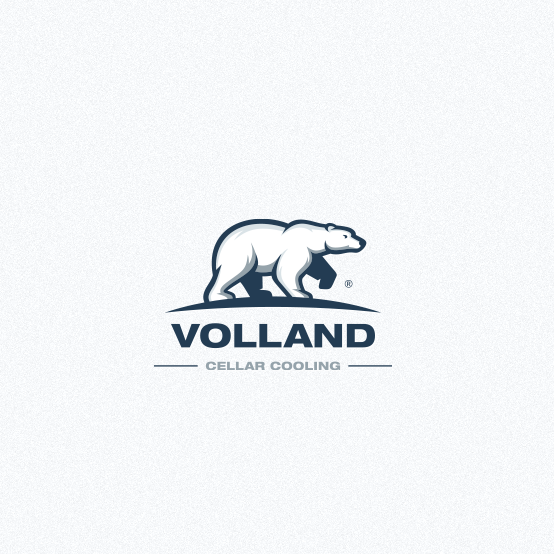 Cooling design with the title 'Bear logo for cellar cooling company '
