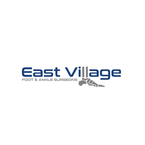 Podiatry logo with the title 'East Village Foot & Ankle Surgeons'