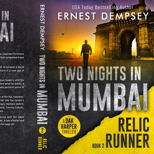 Action design with the title 'Two Nights in Mumbai - The Relic Runner, book 2'