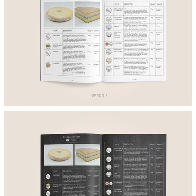 Booklet for cheese seller