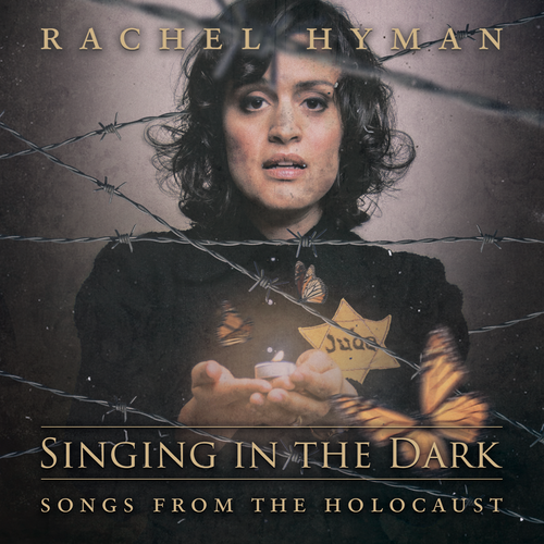 CD design with the title 'CD Cover for Singing in the Dark - Songs from the Holocaust'