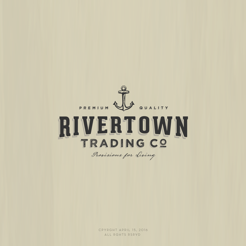 Bespoke design with the title 'Logo design for Rivertown Trading'