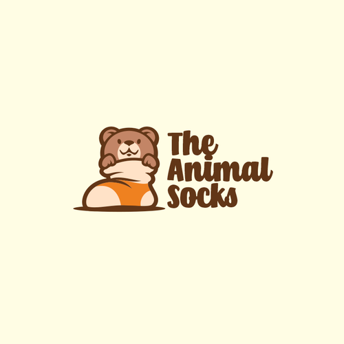 Store logo with the title 'The Animal Socks'