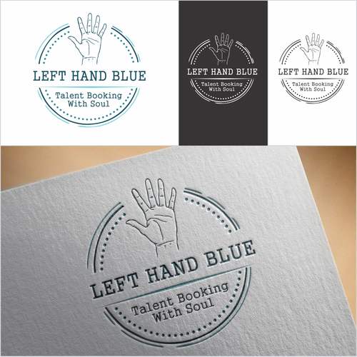 Booking logo with the title 'left hand blue'