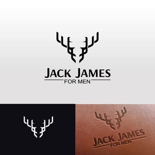 Stag logo with the title 'Stag & J's minimalist logo design'
