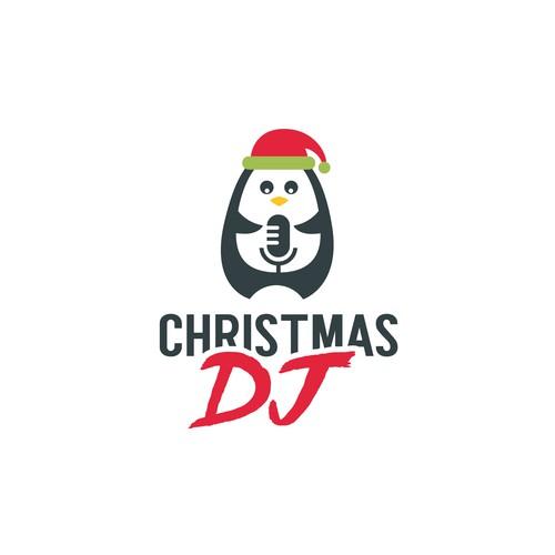 Christmas logo with the title 'CHRISTMAS DJ'