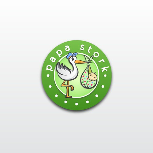Baby store logo with the title 'Create a Winning Logo for Future Baby Product Brand'
