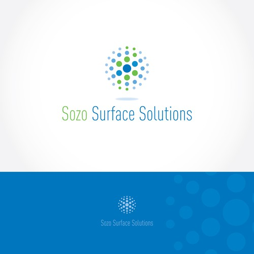Restoration design with the title 'Sozo Surface Solutions'