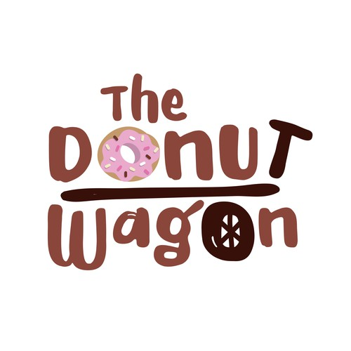 Donut logo with the title 'Playful Logo for a Donut Shop'