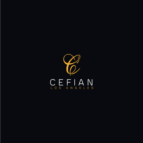 LA logo with the title 'Cefian logo concept'