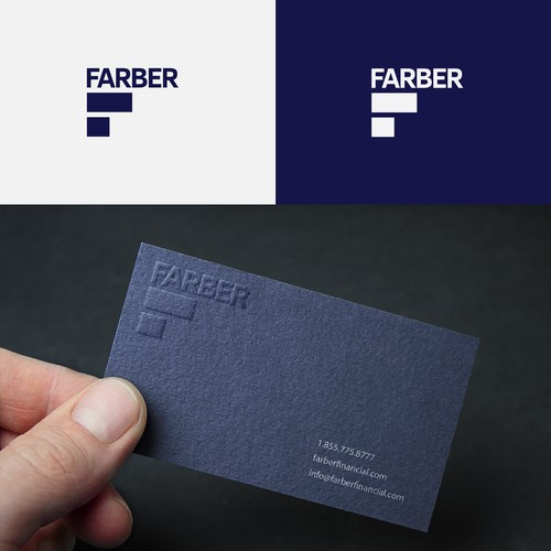 Wolf brand with the title 'Farber Financial Logo Design'