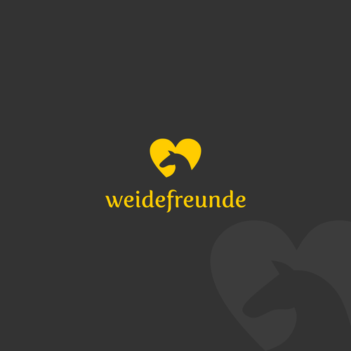Equipment design with the title 'Lovely logo for horse tent company: Weidefreunde'